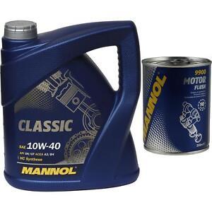 4L-MANNOL-Motoroel-Classic-10W-40-Motorspuelung-Motor-Flush-Reiniger