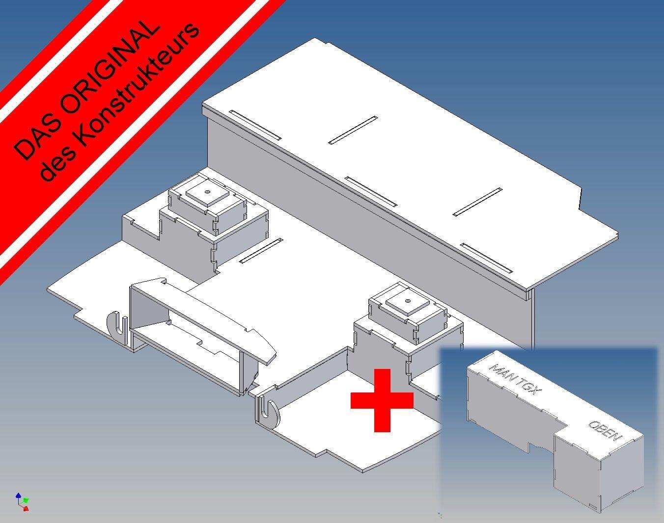MlKE-conductor casa suelo para Tamiya MAN TGX (m 1 14) - base, ampliación, e-Box
