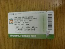 13/04/2014 Ticket: Liverpool v Manchester City  (folded). Thanks for viewing thi