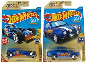 Hot-Wheels-HW-50th-Race-Team-2-amp-9-HW50-Concept-amp-Escort-RS1600-LOT-50L-FJW02