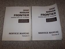2000 Nissan Frontier 3.3L V6 Shop Service Repair Manual SE XE Desert Runner 4WD