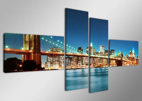 sofort lieferbar Bild 4 tlg Leinwand gerahmt 160x70cm XXL Bilder Nr 6525