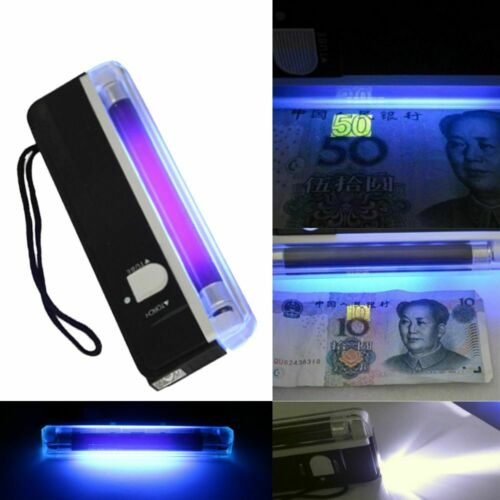 Square Ultra Violet Light Handheld Lantern Money Detector LED Flashlight