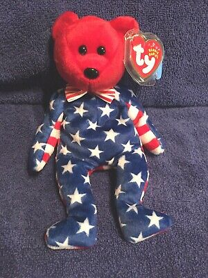 LIBERTY Ty Beanie Baby Bear LIBERTY Red Head MWMT Ships for Free