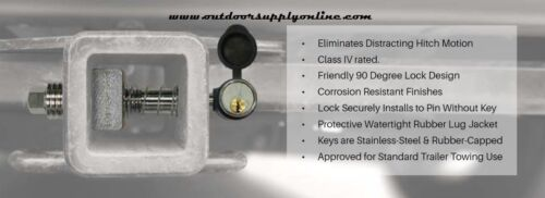 """Silent Hitch Pin 5//8/"""" Press-On Locking Anti-Rattle Pin for 2/"""" Hitches SHP2040"""