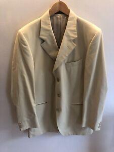 """AgréAble Vintage Crombie Jaune Pâle Summer Blazer Jacket 3 Bouton Taille 40""""-afficher Le Titre D'origine"""