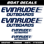 Evinrude Outboards stickers XL decals marine boat motor sailing sport