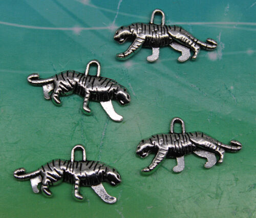 Free Ship Style Rétro belle Tigre Alliage Charms Pendentifs 10*22mm