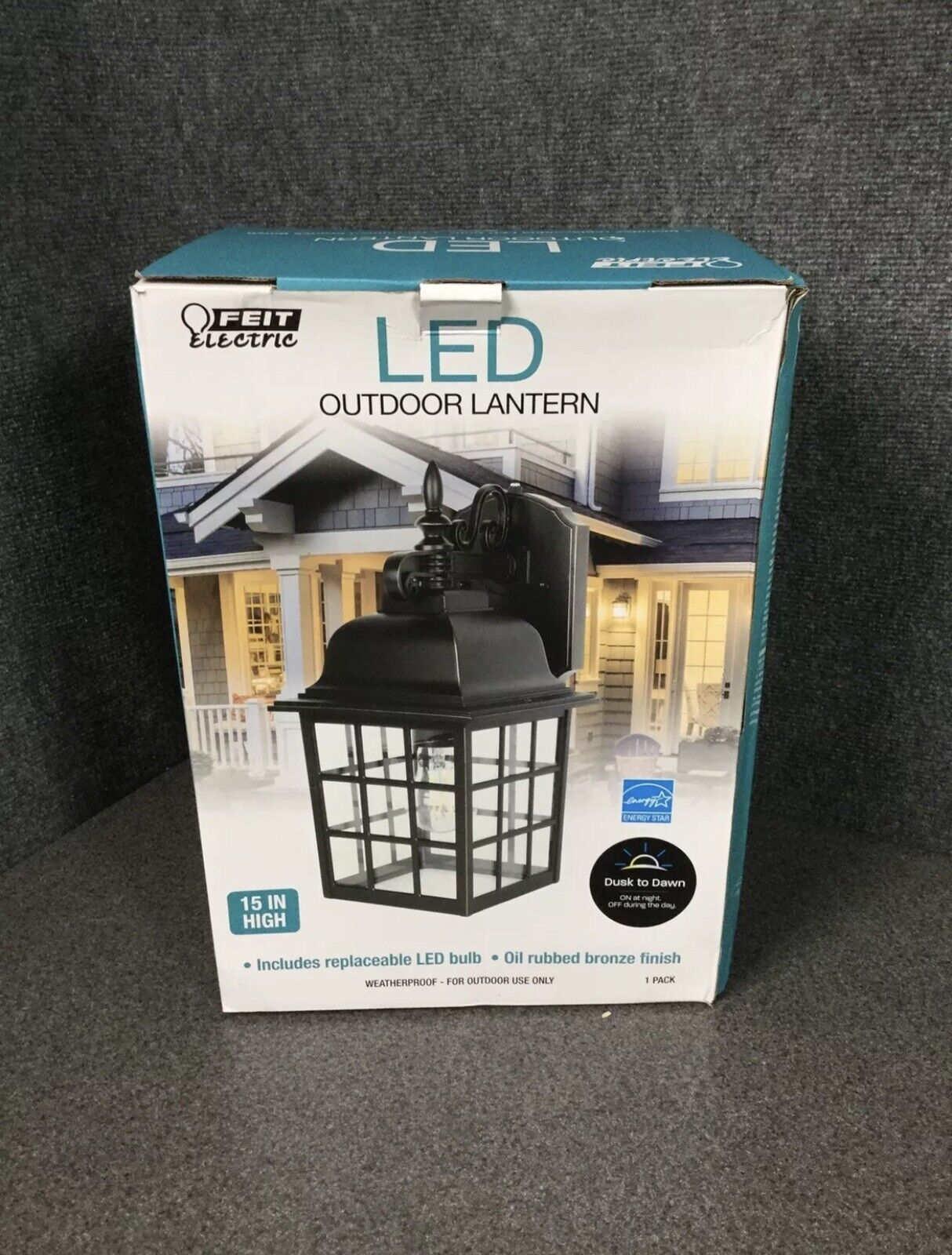 Dusk to Dawn Lot of 2 Feit Electric Weatherproof LED Outdoor Lanterns