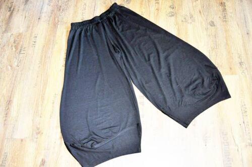 Designer-Lagenlook rafinierte Ballon-Ecken-Hose BLACK 44,46,48,50,52,54//XL-XXXXL