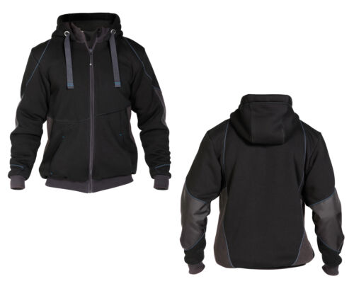 DASSY PULSE Sweatshirt-Jacke Jacke Arbeitsjacke schwarz//anthrazitgrau 290g//m²