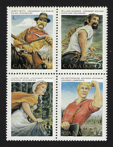 Canada-Stamps-Block-of-4-1992-Canadian-Folklore-1435a-MNH