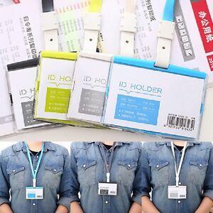 Mode Klar PVC Ausweishalter Kartenhalter Kartenhülle Schutzhülle Mit Lanyard