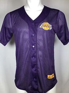 RARE VTG 90s Los Angeles Lakers Purple 1948 Mesh Baseball Jersey ...