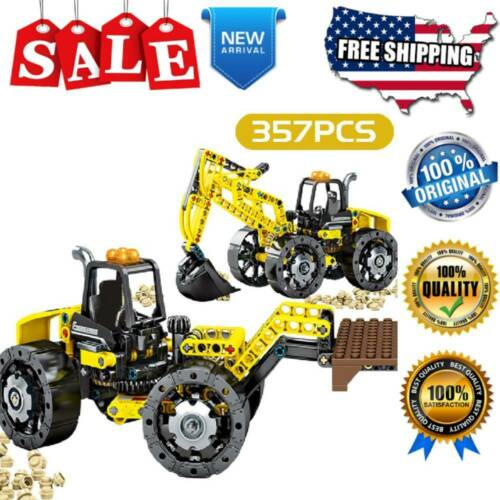 357 Pcs Building Blocks Technical Grab Excavating Truck Kids Birthday Gifts Toys