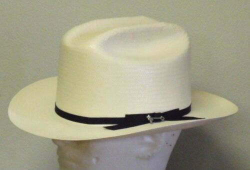 CLASSIC STETSON 6X SHANTUNG STRAW OPEN ROAD WESTERN HAT