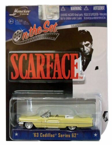 SCARFACE 1963 CADILLAC SERIES 62 CONVERTIBLE DIECAST CAR MOVIE TOY COLLECTIBLE