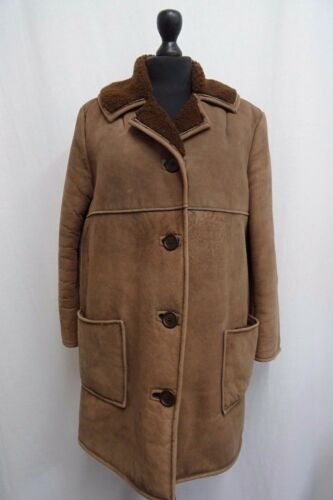Kk1293 en de mouton pour brun 12 femmetaille Antartex Manteau peau wilPTOkuXZ