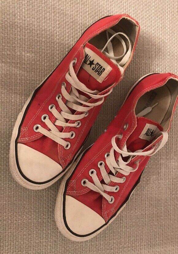 CONVERSE CANVAS ALL STAR CLEAN RED CANVAS CONVERSE LOW SNEAKERS MENS fedc61