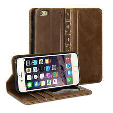 iPhone 6S Case, GMYLE Book Case Vintage - Brown