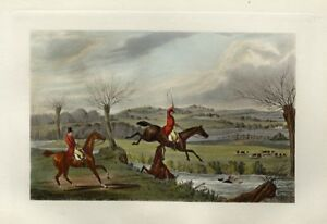 FOX-HUNTER-AND-HORSE-TAKE-A-SPILL-IN-THE-CREEK-FOXHOUNDS-RUNNING-AFTER-FOX-HUNT