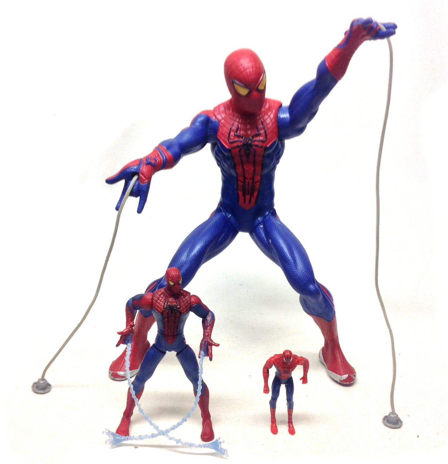 Marvel Comics SPIDERMAN toy action figures 3 different different different sizes lot set f2ae83