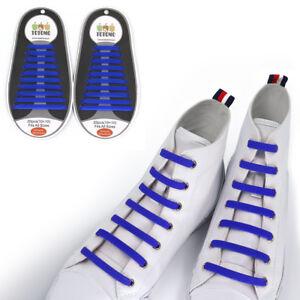 TOTOMO Blue No-Tie Elastic Shoelaces