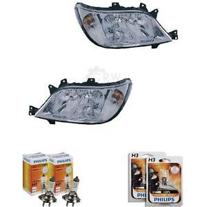 Scheinwerfer-Set-Mercedes-Sprinter-Typ-T1N-Bj-02-06-Facelift-Hella-H7-H3
