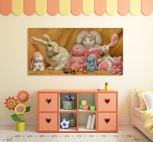 3D Hasen puppen 574 Fototapeten Wandbild BildTapete AJSTORE DE Lemon