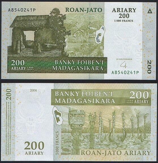 Madagascar P 87 - 200 Ariary 2004 2008 - UNC
