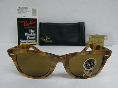 NOS B&L RAY BAN USA LIMITED EDITION WAYFARER 50mm BAUSCH LOMB GENERAL VTG CASE