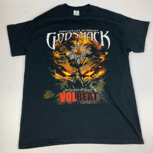 Godsmack Volbeat Tour 2019 Mens T-Shirt L Double S