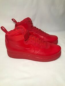 Nike Air Force 1 Foamposite University Red Men's Basketball Shoes BV1172 600 Size 8