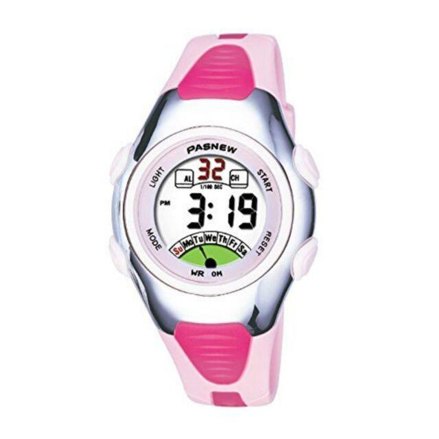 Multifunction Electronic Sport Digital Waterproof Wrist Watch For Kids Girls Boy