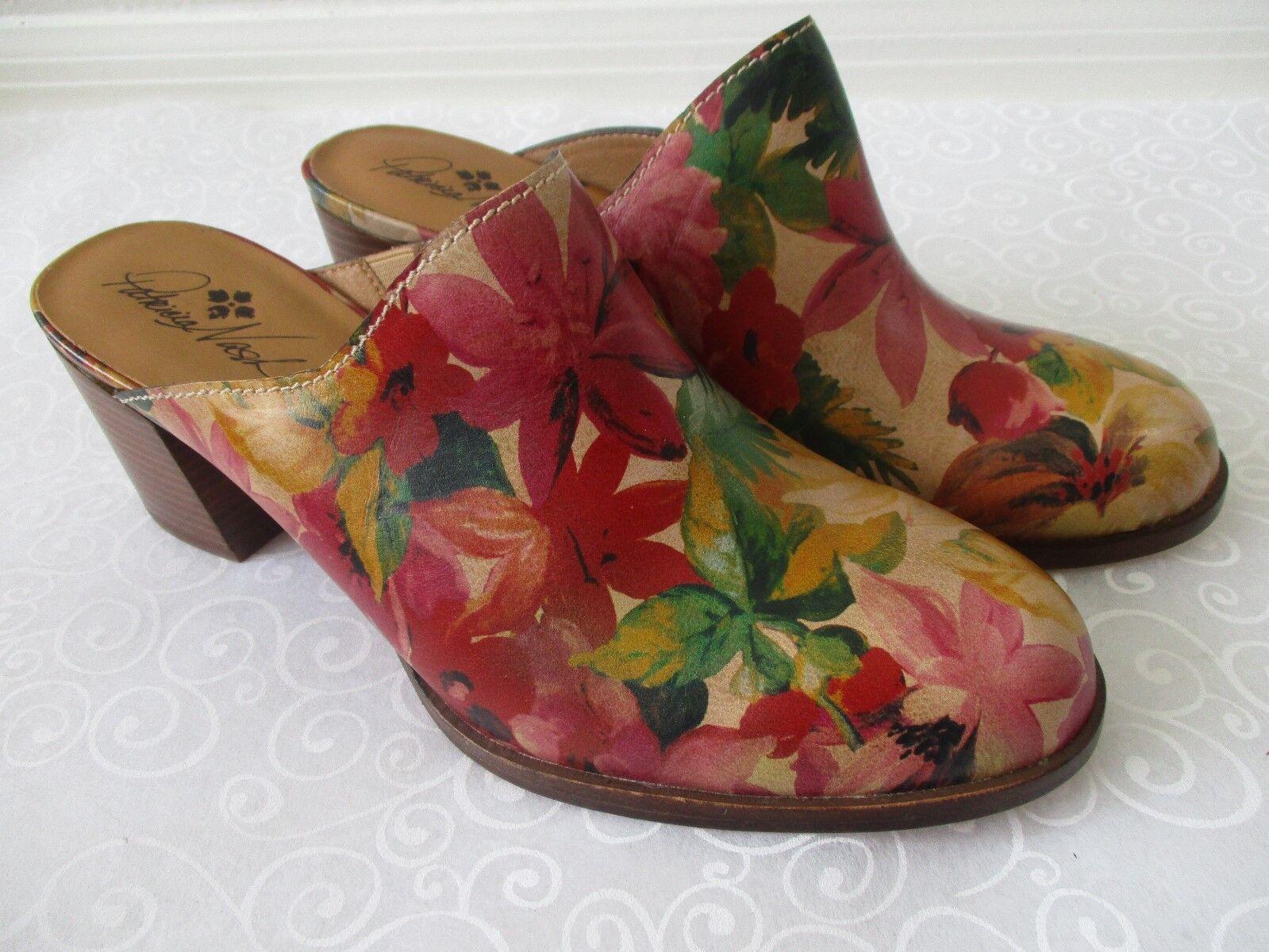 lo stile classico PATRICIA NASH LEATHER MULTI-colore FLORAL DESIGN MULE scarpe Dimensione 11 11 11 - NEW  ecco l'ultimo
