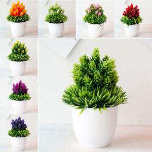 Decorative Artificial Flower Indoor Outdoor Garden Fake Simulation Potted Plant Ebay