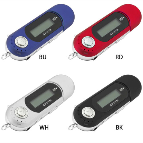 Portable Music MP3 Player Digital USB LCD Screen Support 32GB Flash TF FM Radio