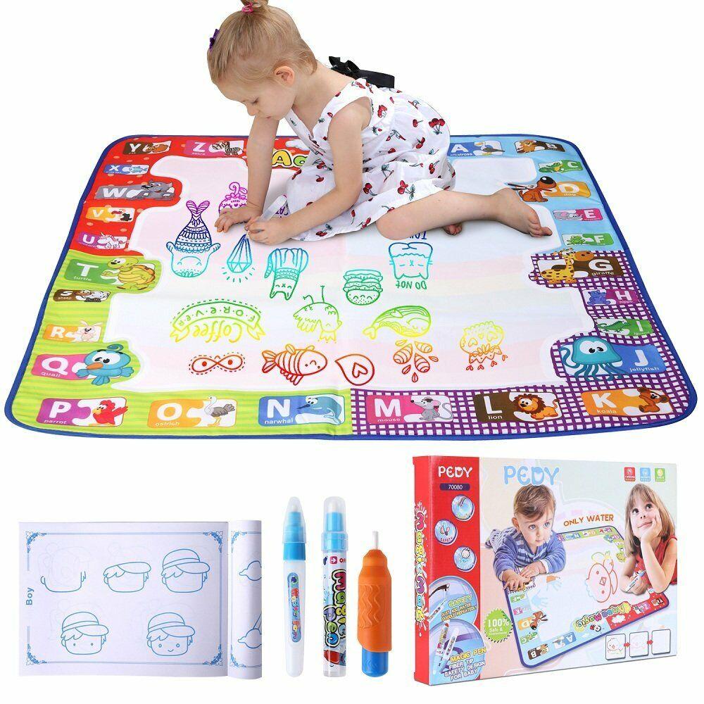 Kinder Magic Doodle Malmatte Matte wie Aqua Doodle Malen mit Wasser 78x78cm DE