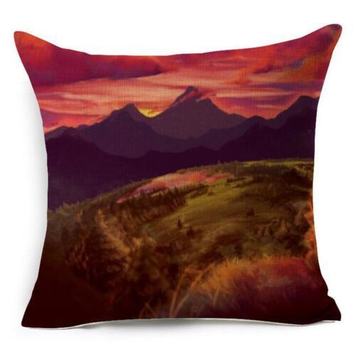 Cartton Animal Cotton Linen Cushion Cover Home Decor Throw Pillow Case