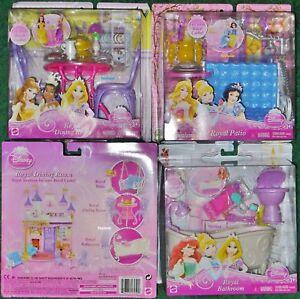 Disney-Princess-Doll-ROYAL-CASTLE-Dining-Bathroom-Patio-Furniture-Barbie-Set-NEW