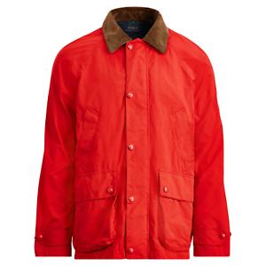 Polo-Ralph-Lauren-Mens-Leather-Trim-Twill-Barn-Coat-Aviator-Red-Jacket-Parka-NWT