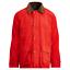 Polo-Ralph-Lauren-Mens-Leather-Trim-Twill-Barn-Coat-Aviator-Red-Jacket-Parka-NWT thumbnail 1