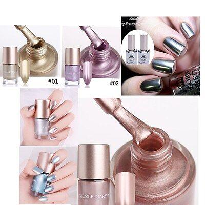 9 15ml Nail Polish Mirror Chrome Effect Varnish Metallic