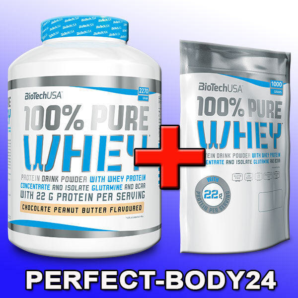 ( /kg) 2,27kg + 1kg BioTech USA 100% Pure Whey Whey Pure Dose Beutel Eiweiss Protein 8f517a