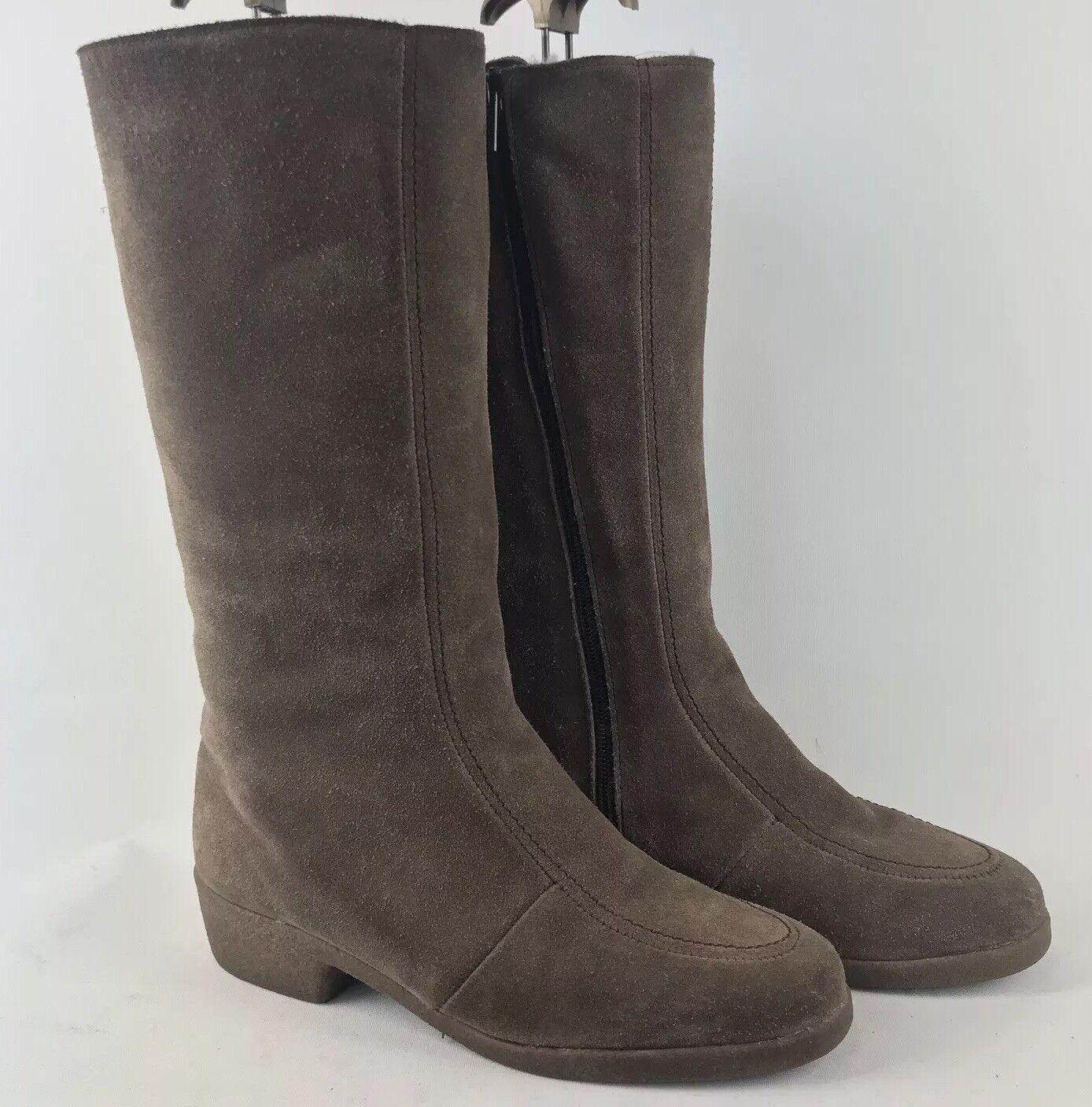 MOORLANDS Größe UK 6D Sheepskin Calf High Stiefel    | Spaß