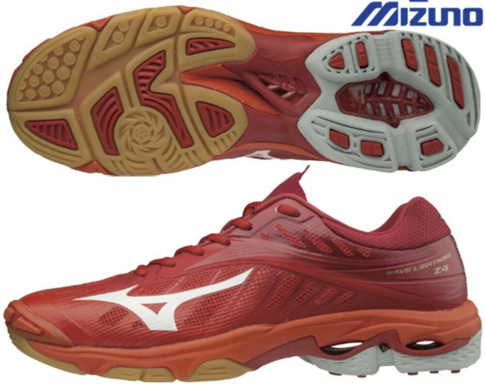 Neu Mizuno Herren Herren Herren Wave Blitzschlag Z4 Niedriger Volleyball Schuhe Rot Verfolgen dc8ecb