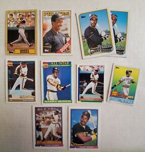Barry-Bonds-Pittsburgh-Pirates-San-Fran-Giants-Lot-of-24-Baseball-Cards