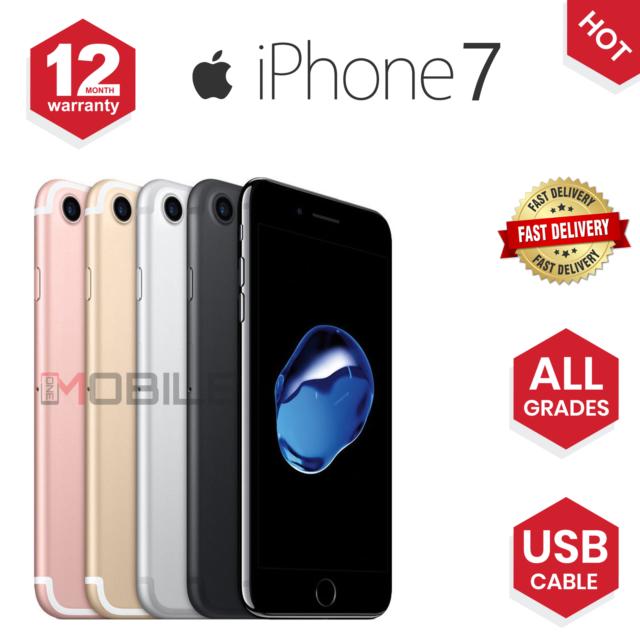 Apple iPhone 7 – 32GB – Black (Unlocked) A1778 (GSM)