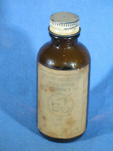 WWII-General-Bearing-Co-Aircraft-Instrument-Lubricating-Oil-Mil-L-6085A-Bottle