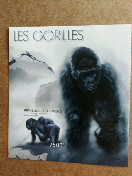 Burundi 2012. Imperforados. Nueva. Gorilas